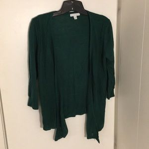 Open Cardigan- Forest Green